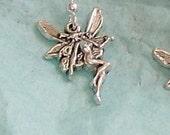 irish faries with silver ear wire earrings