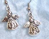 LITTLE ANGEL EARRINGS WITH STERLING SILVER EAR WIRES