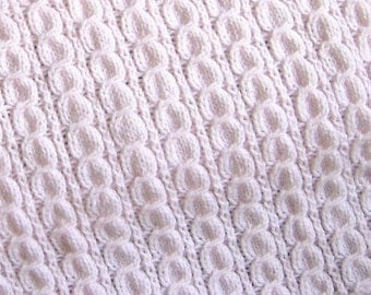pattern for hand knitted twisted cable baby afghan blanket
