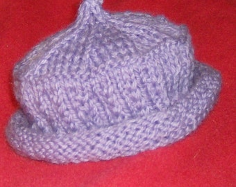 original designed and hand knitted new born tam hat cap size new born