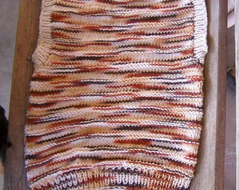 Hand knitted Two in one all cotton vest size 5