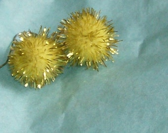 shimmering yellow ball earrings free shipping
