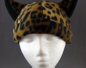 Cheetah Cat Animal Fleece Hat Anime Cosplay Skiing Snowboarding Gothic Rave Punk