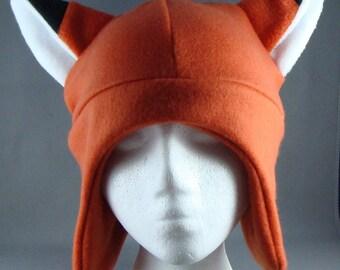 Fox Animal Fleece Hat Skiing Snowboarding Gothic Rave Punk Earflap
