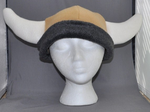 The Viking Horns Fleece Fabric Beanie Animal Fleece Hat Anime Lolita Cosplay Skiing Snowboarding Gothic Punk AVIATOR