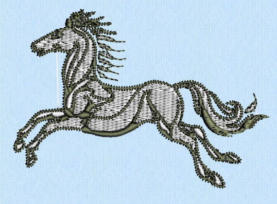 Lord of the rings lotr rohan horse machine embroidery by for Rohan design
