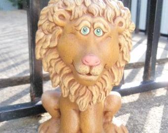Ceramic Lion - Bobble Head Lion - Handmade Lion - Cute Lion - Jungle Lion decor - Lion Collectible - Birthday Gift idea - African Animal