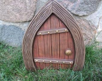 Large Fairy Door - Garden Decor - Gnome - Magic - Spring Decor - Ceramic Fairy Art - Gift for Mom - Fairytales Do Come True