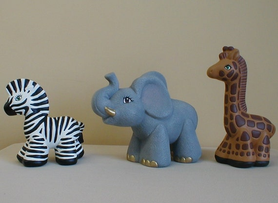 RESERVED for Jodi -African Animal Set - Babies room decor - Baby shower gift - African animals