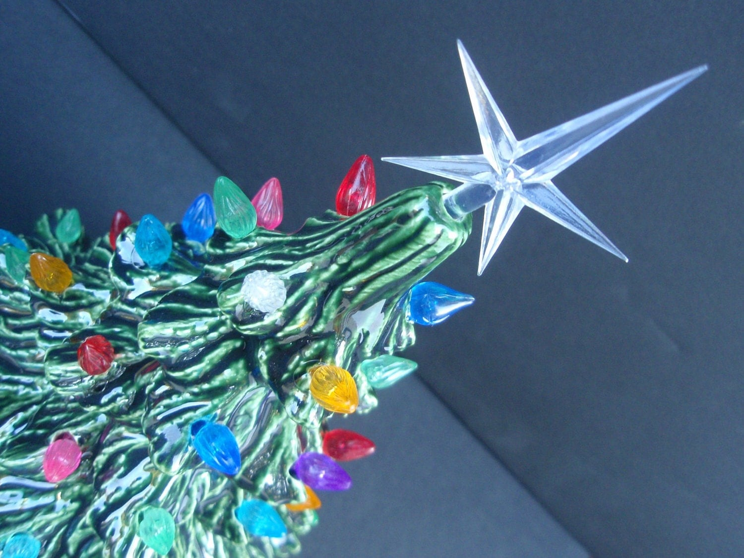 Ceramic Christmas Tree Classic Tabletop Tree With Twinkle