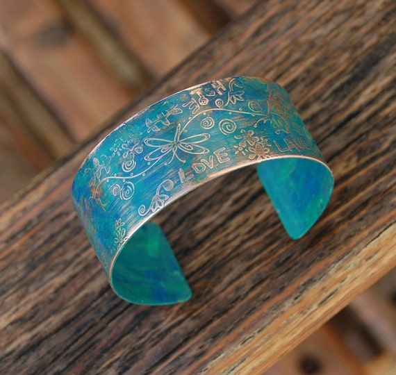 Earth Mother - Copper Cuff Bracelet by koregon