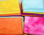 Hand Dyed Cotton Quilters Fat Quarters