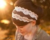 Vintage Stretch in Mocha - Garlands of Grace headband Spring headcovering hair scarf headband