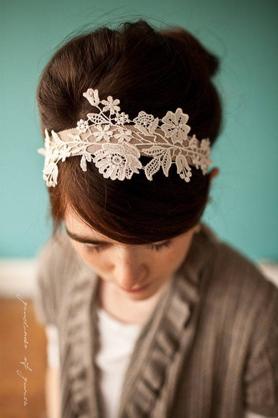 Delicate lattice headband in lace - garlands of grace Something special headband 2012