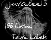 Custom Fabric Labels 100 Count
