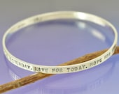 Personalised Silver Bangle. 4mm Wide.