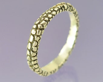 Stacking Silver Ring . Snakeskin.