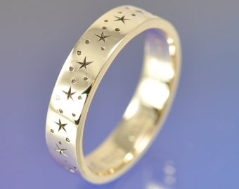 Twinkle Little Star -18k Yellow Gold custom made ring.