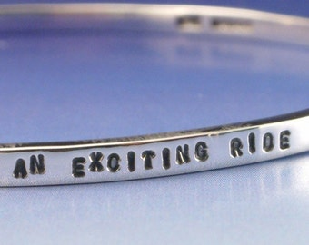 Personalised Silver Bangle
