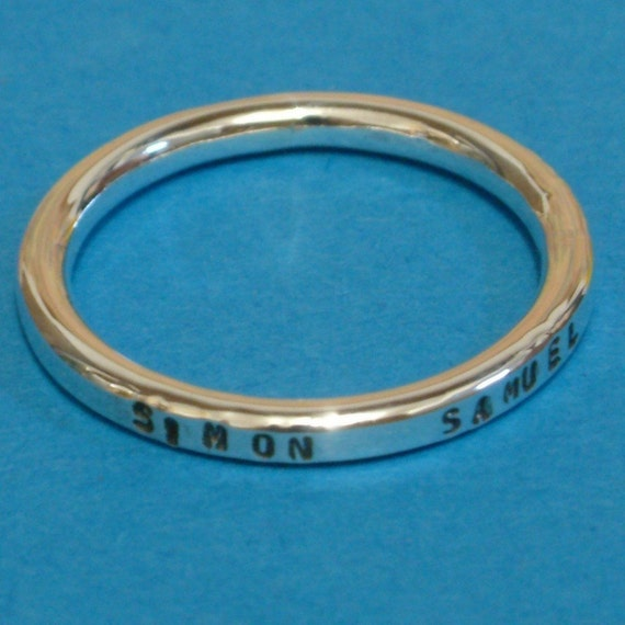 Dream a little.....Stackable Sterling Silver Ring. Custom. Personalized , Personalised with your own message, word, phrase, quote. Stamped