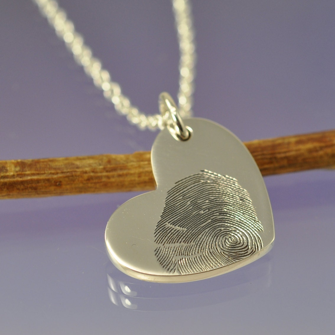 fingerprint pendant your finger print engraved
