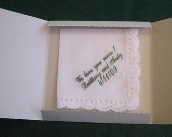 Handkerchief Gift Box includes shipping in the US