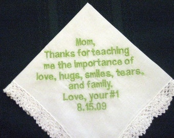 Mother of the Bride 154B Hanky with gift box and free shipping in the US