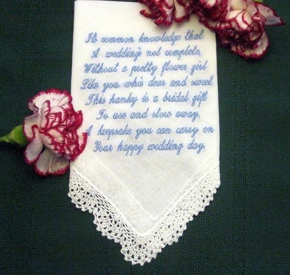 flower girl wedding gift