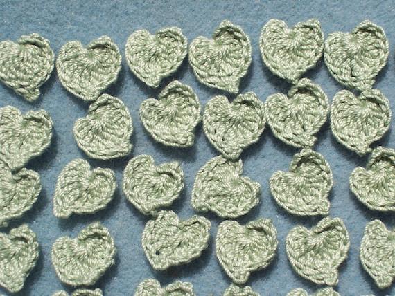 40 handmade cotton thread crochet applique leaves  --  1504