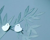 Sterling Silver Bird Studs, Small and simple stud earrings, LAST PAIR