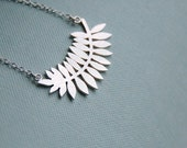 Frond Necklace in sterling silver