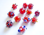 Lampwork Bumpy Red Collection Beads