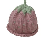 Pink Strawberry Baby Hat
