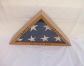 Flag Display Case with personalization