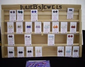 Earring Card Display Rack with Header