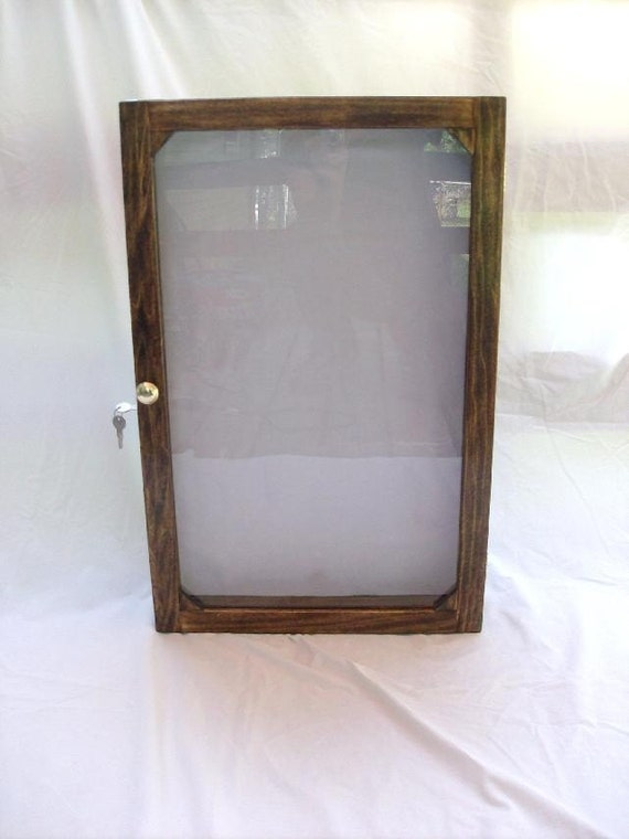 Items Similar To Wall Mounted Locking Display Cabinet On Etsy