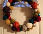 Modern Yarn Wreath -- Large