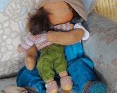 Felix & Izzy Brothers for eternity a FairyWoolDoll original creation Waldorf cloth doll