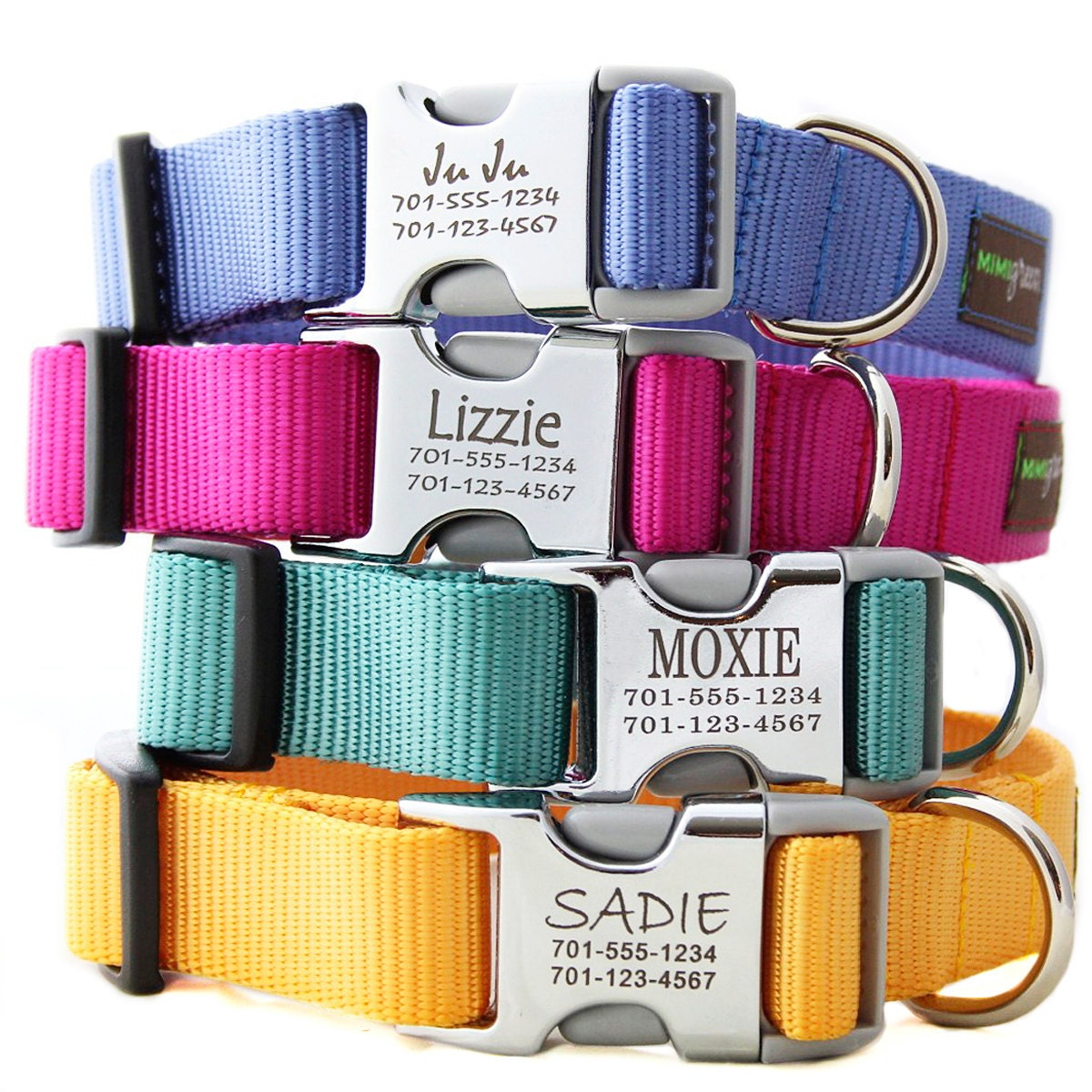 Metal Engraved Buckle Dog Collar Personalized With 21