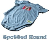 Spotted Hound Onesie - size 24 mo Blue