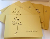 Thank You Cards Set of 6 PICK YOUR COLOR
