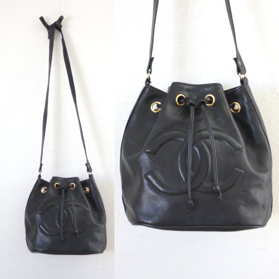 d9fa85a2fb7c Chanel Bucket Black Leather Bag | Stanford Center for Opportunity ...