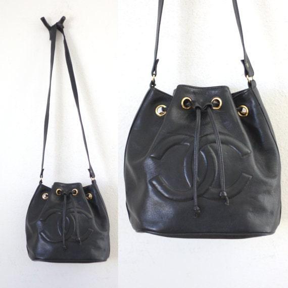 9147e036d1d1 Chanel Bucket Black Leather Bag | Stanford Center for Opportunity ...