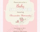 DIY Stroller Baby Shower Invitation
