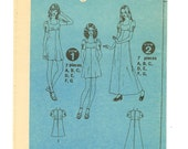 Reserved for KNITCROCHETMAD Empire Waist Sweetheart neckline dress pattern by Simplicity 9779 in size 12 from 1971