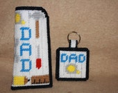 366 Dad's tool eyeglass case and keychain