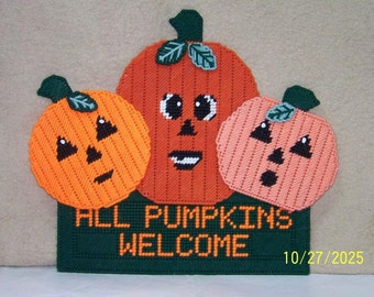 36 All Pumkins Welcome Wall Hanging