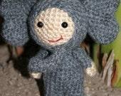 Crochet Pattern- Enoc in an elephant suit