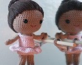 Crochet Pattern- Brisa the ballerina amigurumi doll