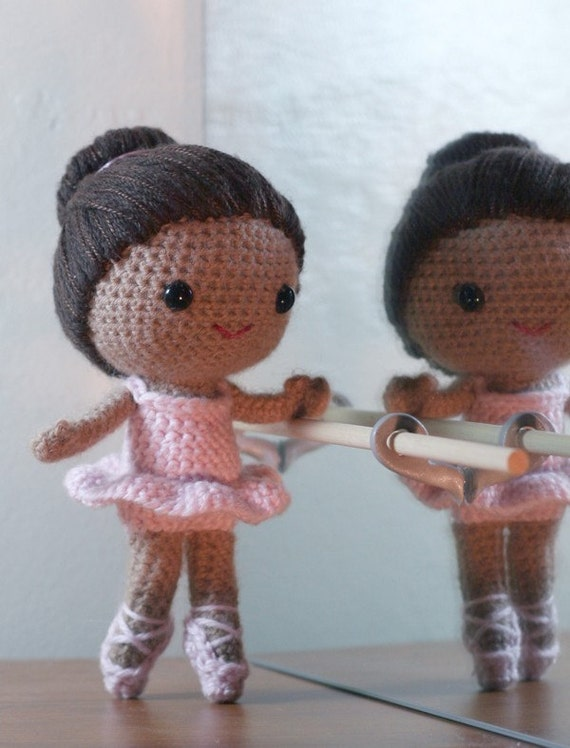 Crochet Pattern- Brisa the ballerina amigurumi doll